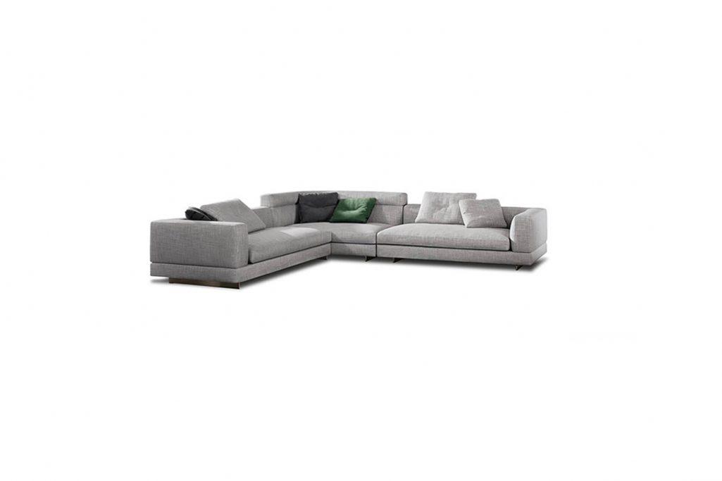 minotti alexander sofa on a white background