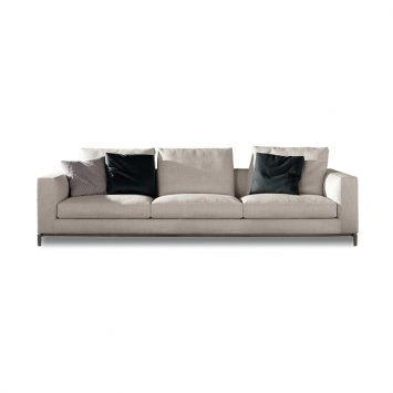 minotti andersen sofa on a white background