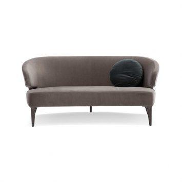 minotti aston sofa on a white background