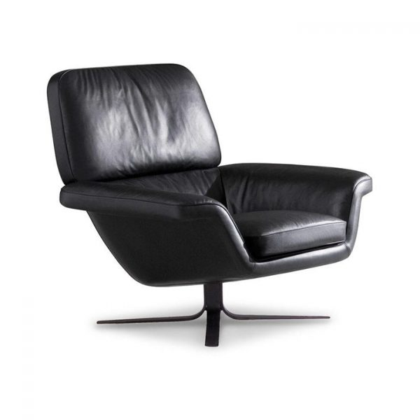minotti blake-soft armchair on a white background