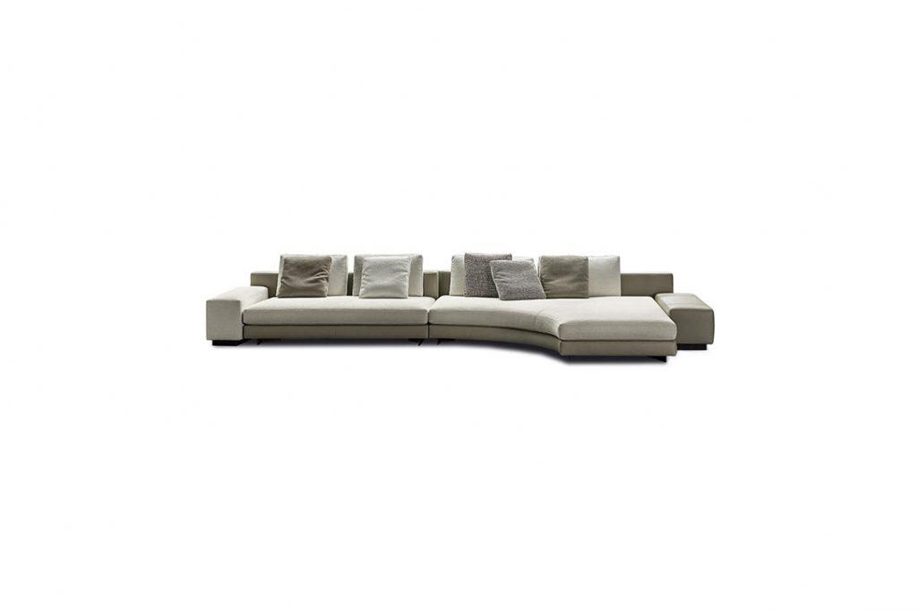 minotti daniels sofa on a white background