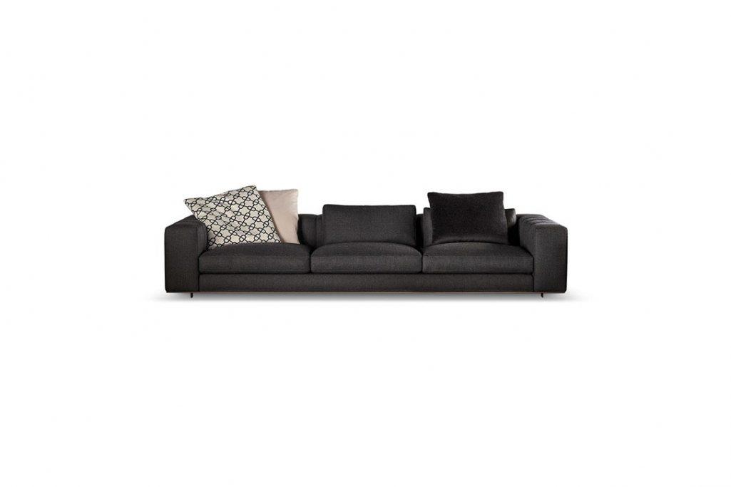 minotti freeman duvet sofa on a white background