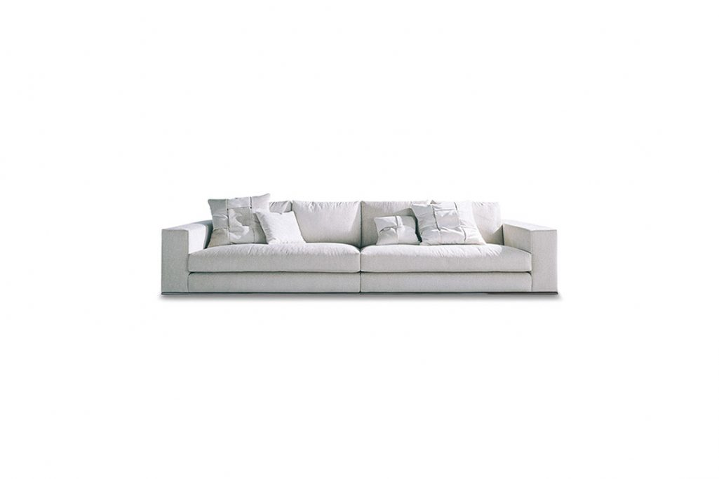 minotti hamilton sofa on a white background
