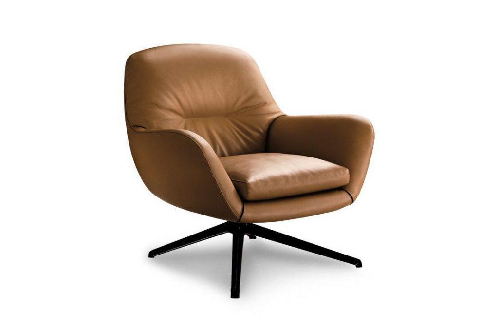 minotti jensen armchair on a white background
