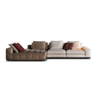 minotti lawrence sofa on a white background