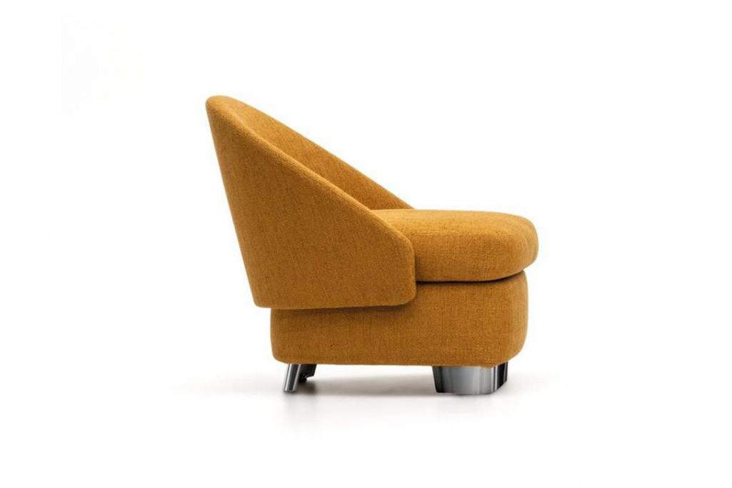 side view of a minotti lawson armchair