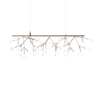 moooi heracleum endless pendant light in copper on a white background