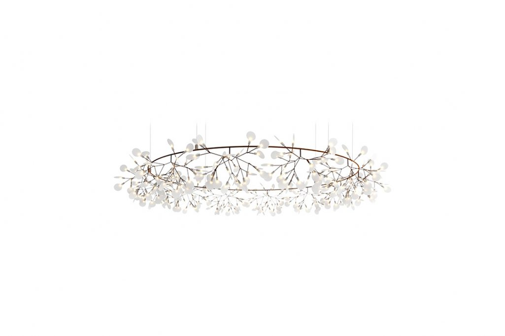 large moooi heracleum the big o pendant light in copper on a white background