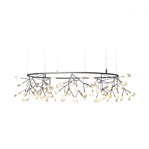 small moooi heracleum the big o pendant light in nickel on a white background