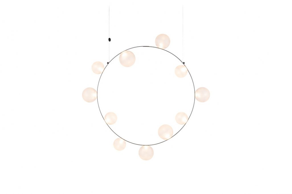 moooi hubble bubble pendant light 11 with frosted finish on a white background