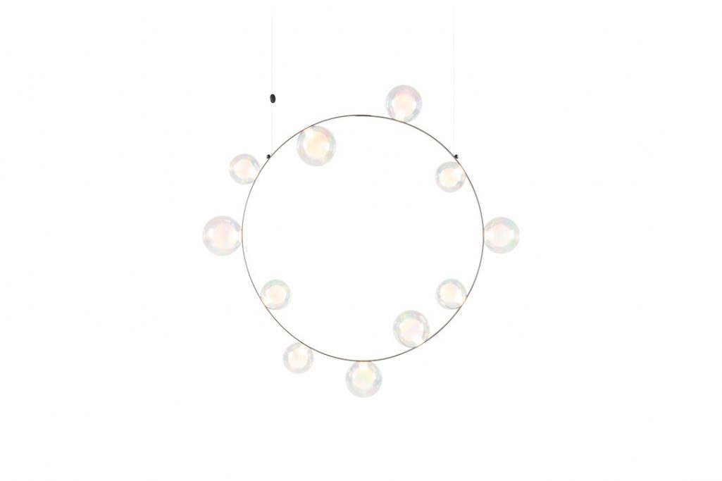 moooi hubble bubble pendant light 11 with oil finish on a white background
