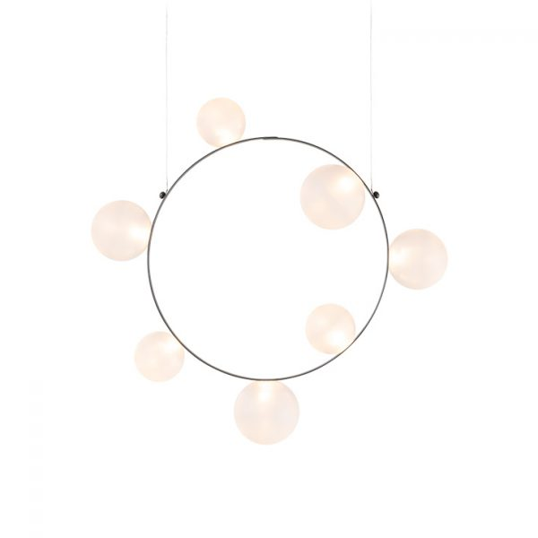 moooi hubble bubble pendant light 7 with frosted finish on a white background
