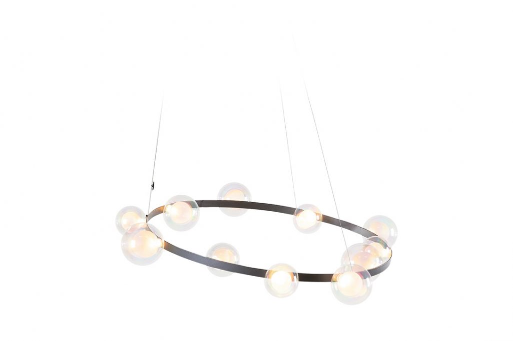 moooi hubble bubble pendant light rotated on a white background