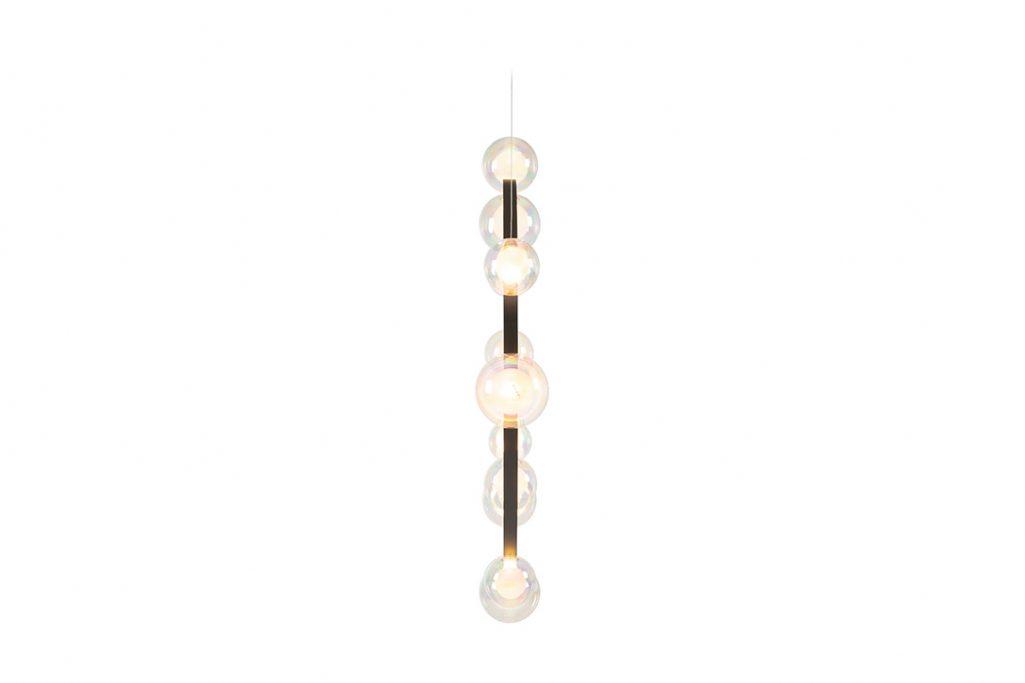side view of moooi hubble bubble pendant light