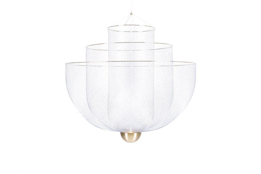 moooi meshmatics pendant light large on a white background