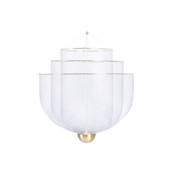 moooi meshmatics pendant light small on a white background