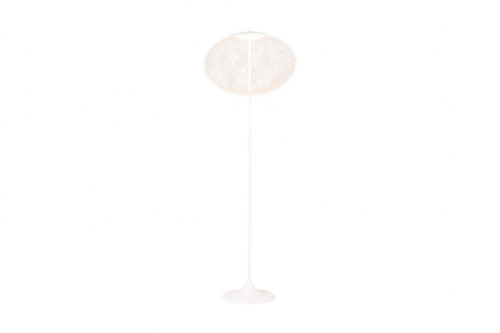 white moooi nr2 floor lamp on a white background