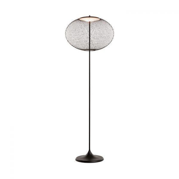 black moooi nr2 floor lamp on a white background