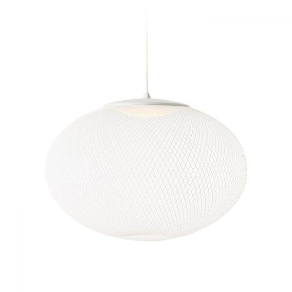 white moooi nr2 pendant light medium on a white background