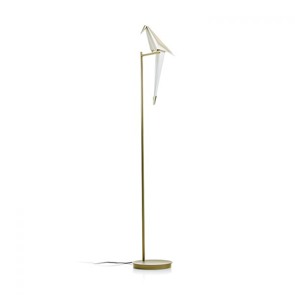 moooi perch light floor lamp on a white background