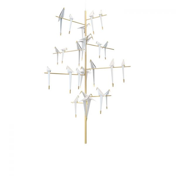 moooi perch light tree pendant on a white background