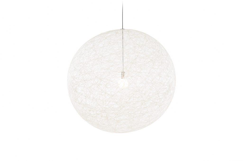 large moooi random light II pendant in white on a white background