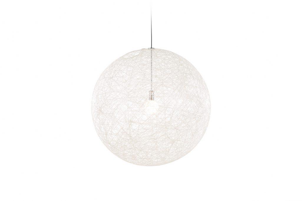 medium moooi random light II pendant in white on a white background