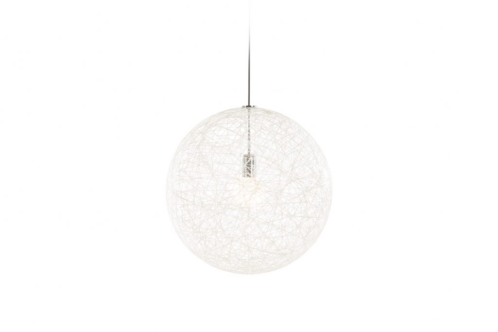 small moooi random light II pendant in white on a white background