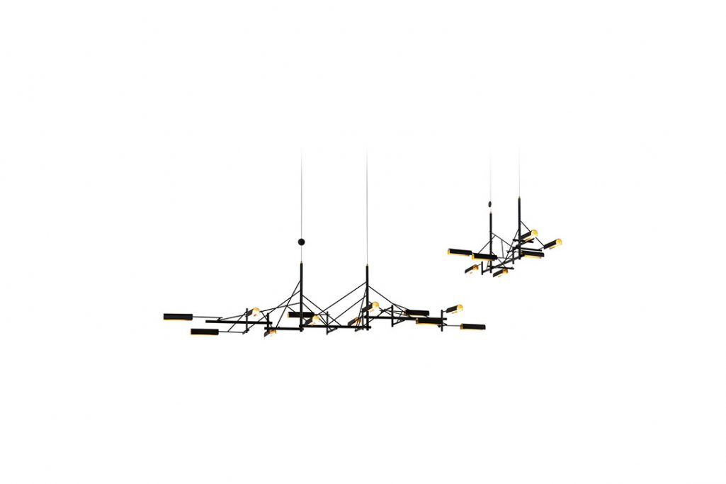 moooi tinkering pendant lights 140 and 85 on a white background