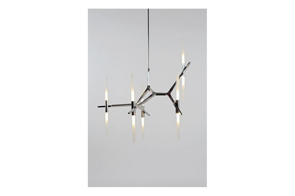 roll & hill agnes chandelier 10 polished nickel finish