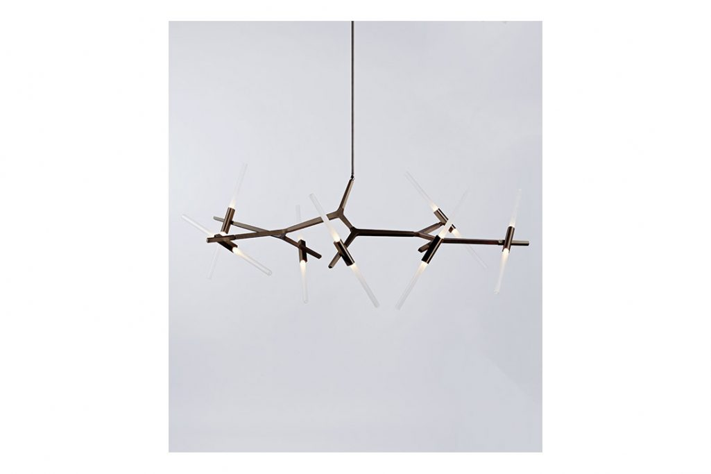 roll & hill agnes chandelier 14 bronze finish