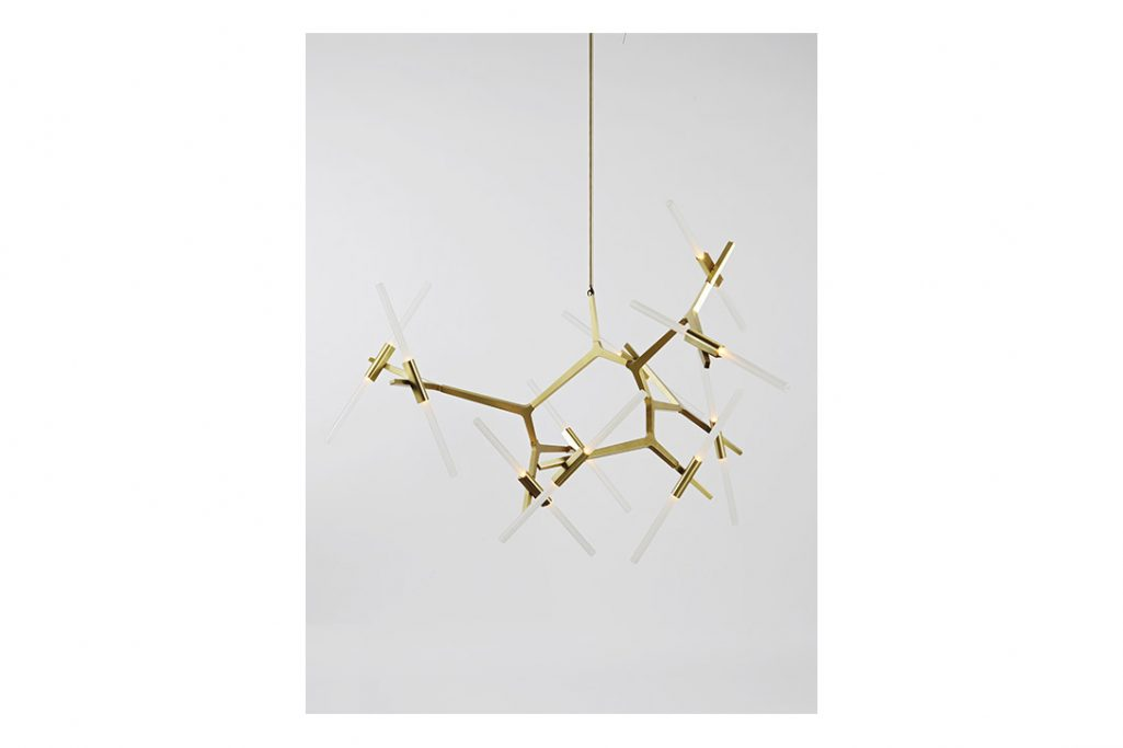 roll & hill agnes chandelier 20 brushed brass