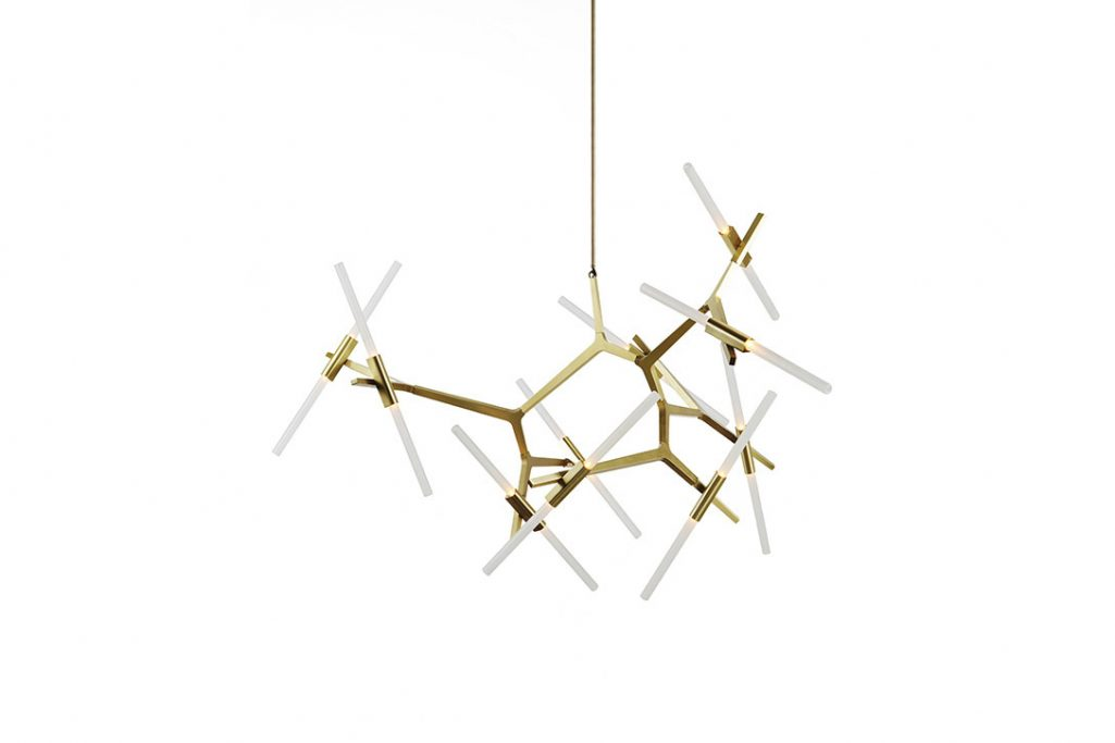 roll & hill agnes chandelier 20 brass finish