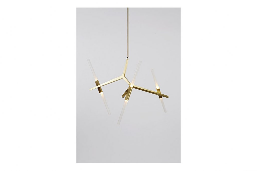 roll & hill agnes chandelier 6 brushed brass finish