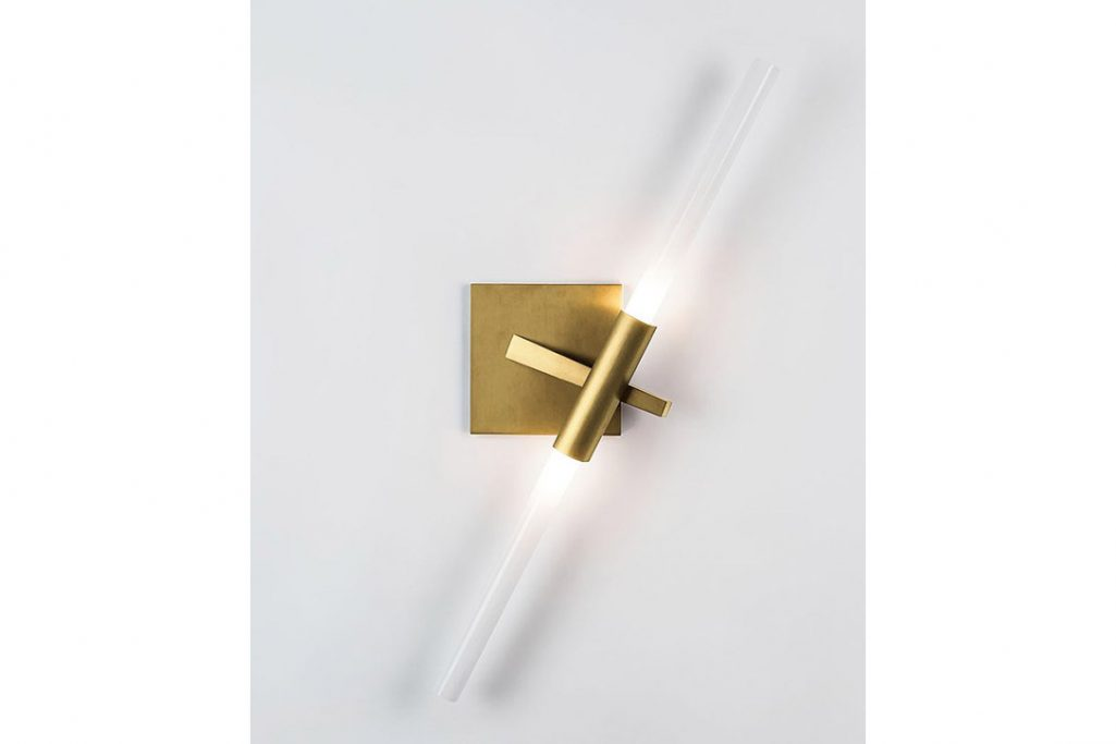 roll & hill agnes sconce 2 brushed brass