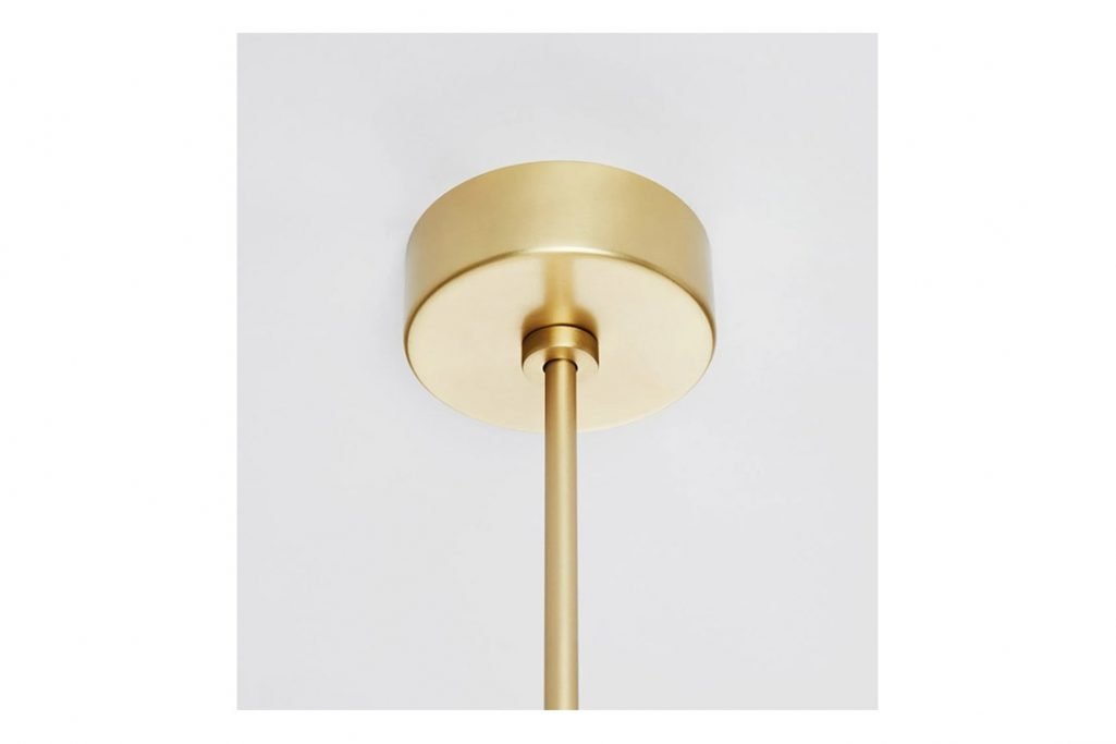roll and hill castle pendant canopy in brushed brass