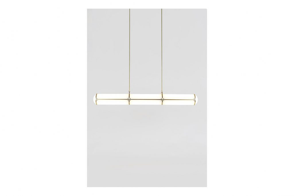 roll & hill endless pendant 3 units in brass