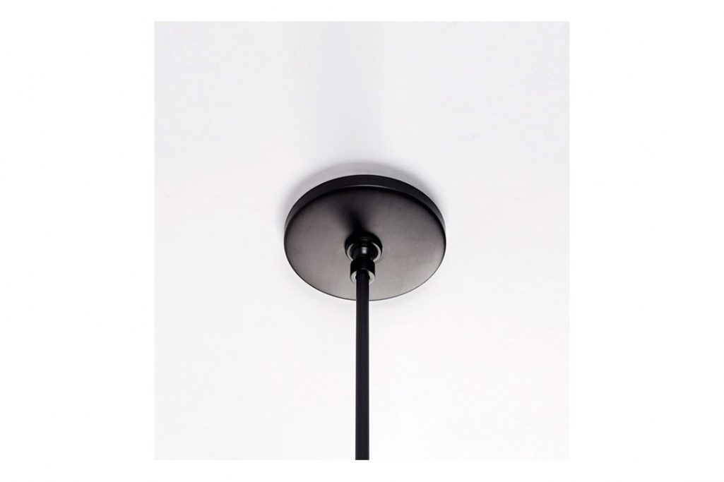 canopy for a roll & hill endless pendant in black