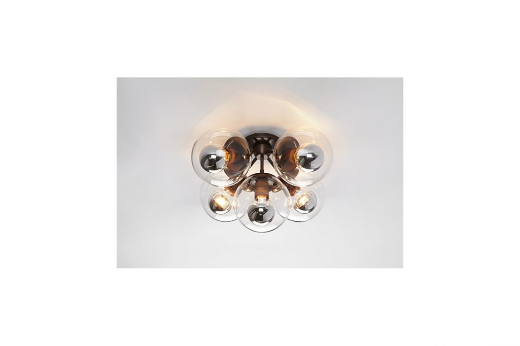 roll and hill modo ceiling light bronze and clear