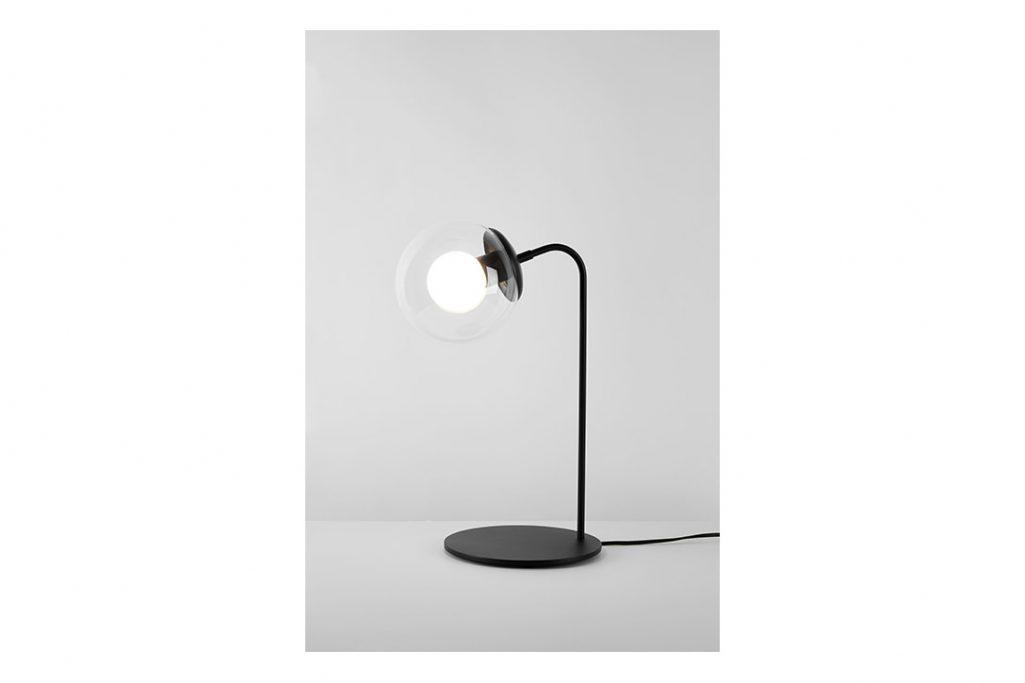 roll & hill modo desk lamp black clear glass