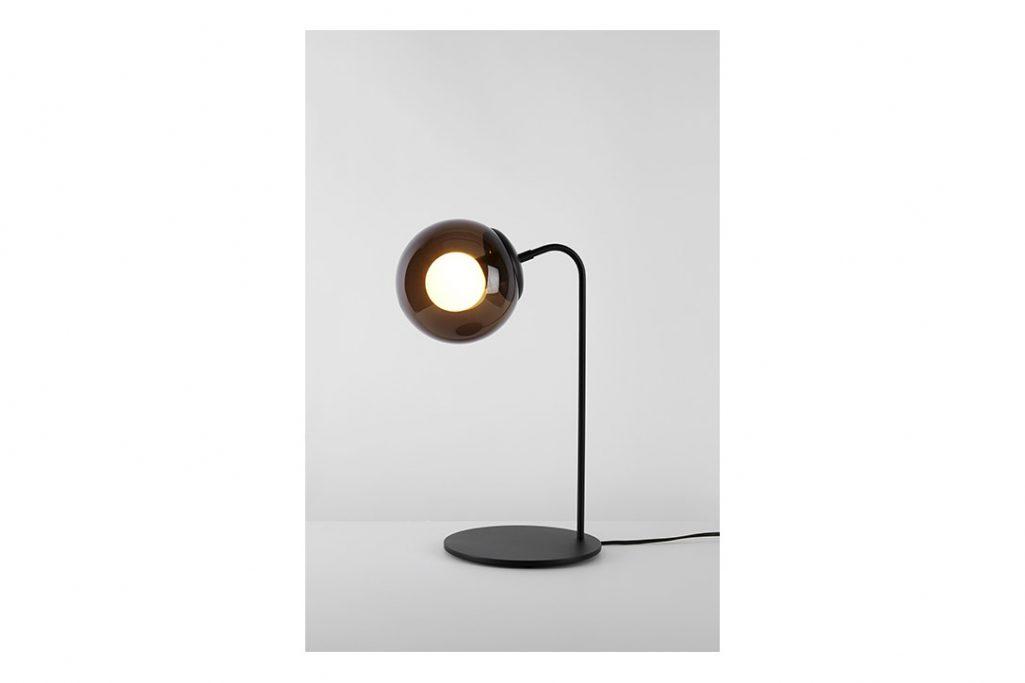 roll & hill modo desk lamp black smoke glass