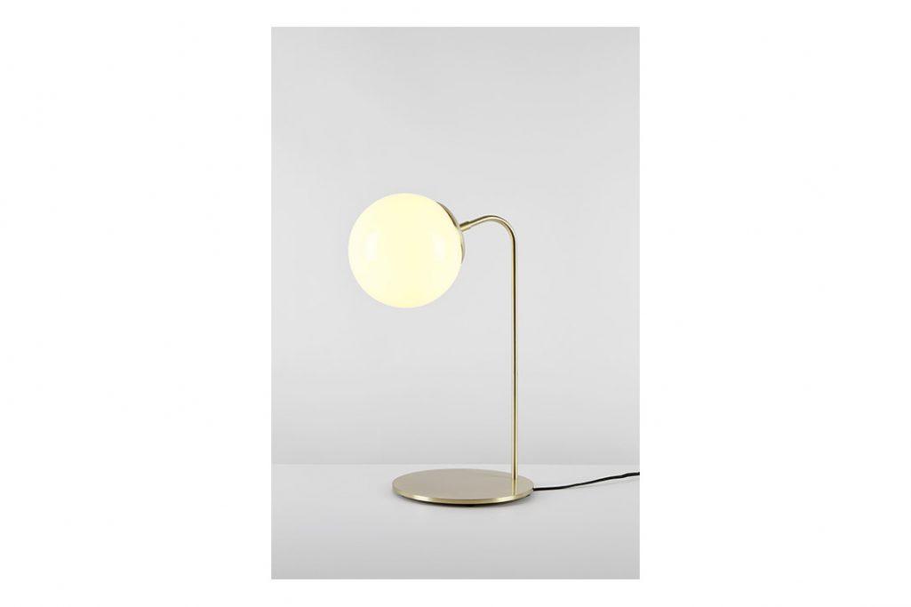 roll & hill modo desk lamp brushed brass cream glass