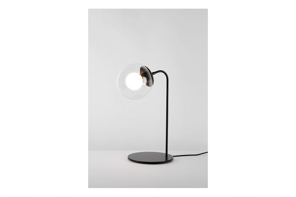 roll & hill modo desk lamp bronze clear glass