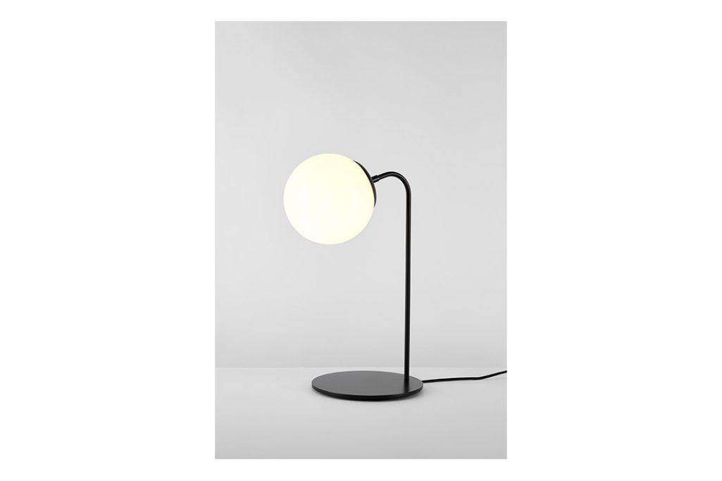 roll & hill modo desk lamp bronze cream glass