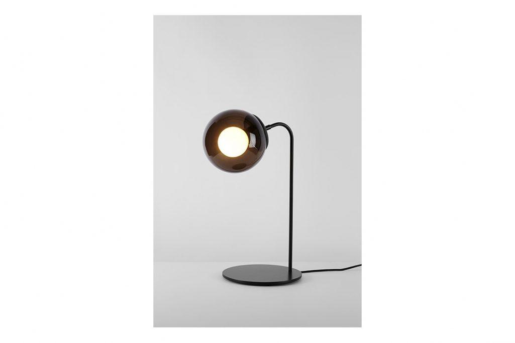roll & hill modo desk lamp bronze smoke glass
