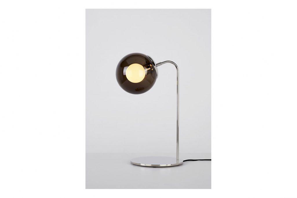 roll & hill modo desk lamp polished nickel smoke glass