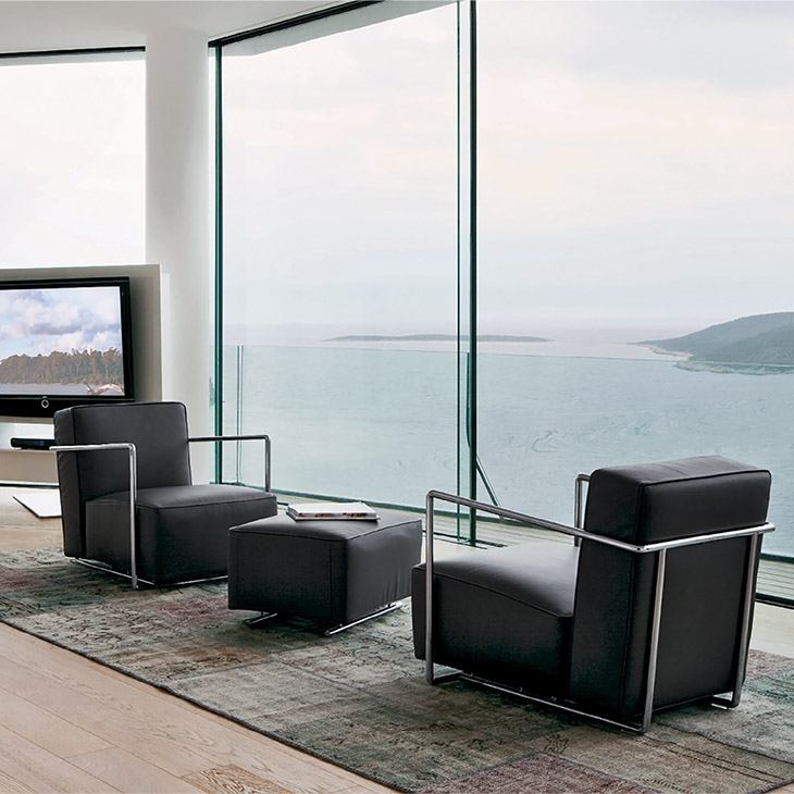 two flexform abc armchairs in situ