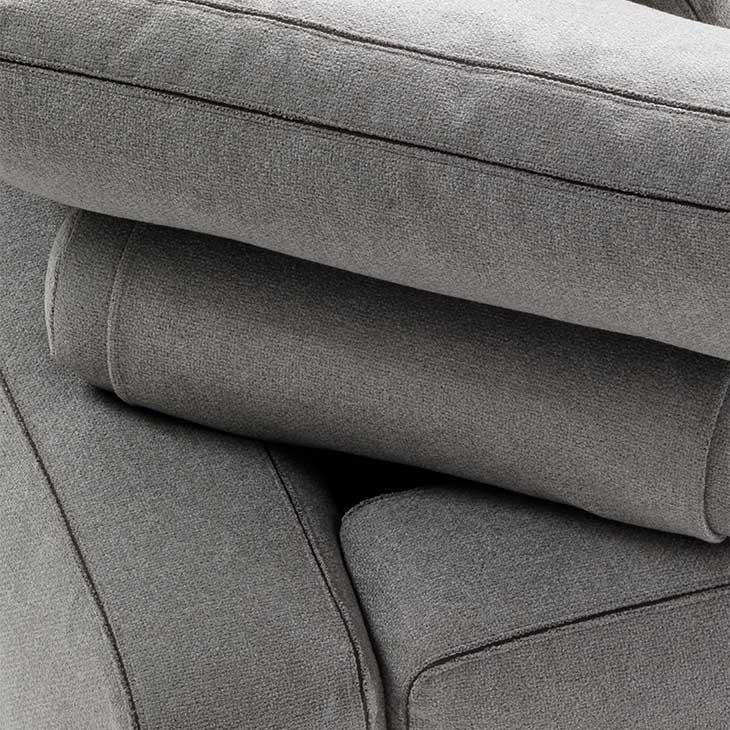 close up of cushions on a flexform romeo sofa