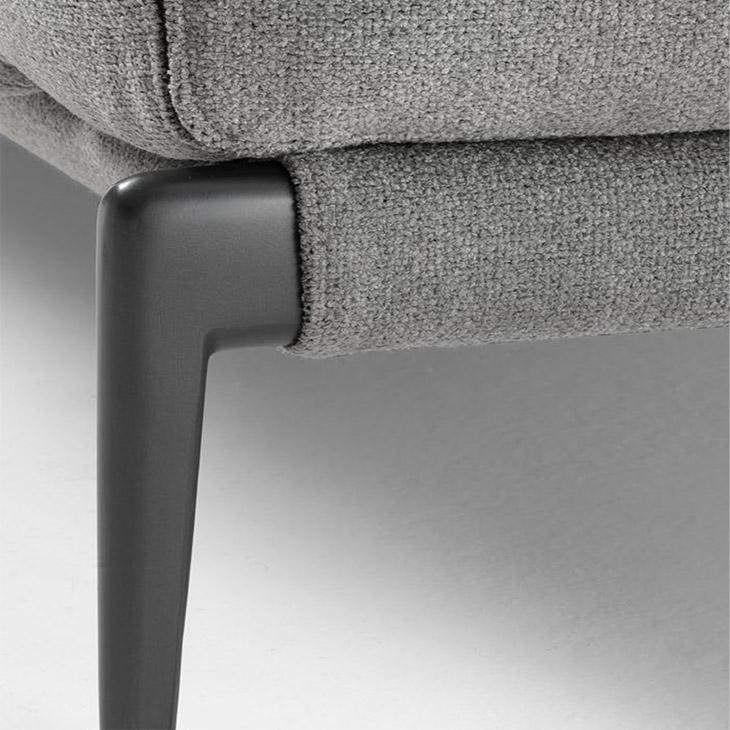 close up of leg on a flexform romeo sofa