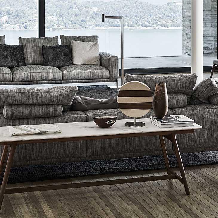 modern living room featuring flexform romeo sofa
